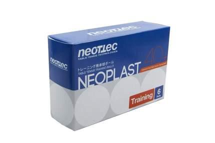 Мячи для настольного тенниса Neottec Neoplast белые, 6 шт.