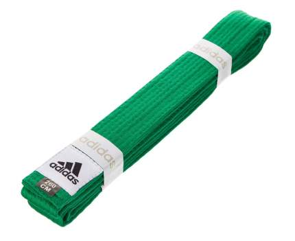 Пояс для единоборств Adidas Club зеленый, 280 см