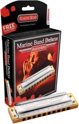 Губная гармоника диатоническая HOHNER Marine Band Deluxe 2005/20 G