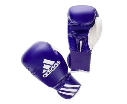 Боксерские перчатки Adidas Response сине-белые 10 унций