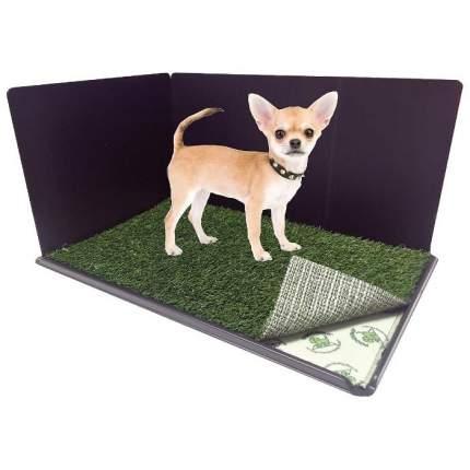Туалет для собак PoochPad с искусственной травой, пеленкой, оградой и поддоном