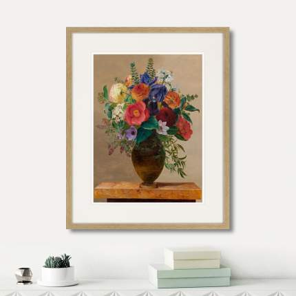 Картина Summer flowers in a vase, 1835г., 52 x 42 см, Картины в Квартиру