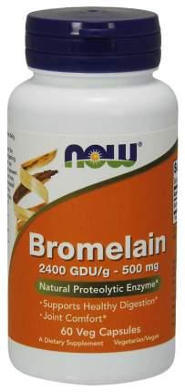 Для пищеварения NOW Bromelain 500 мг 60 капсул