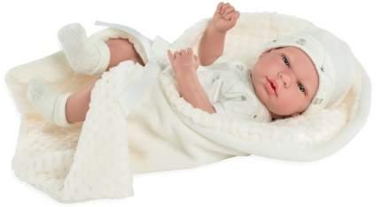 Пупс ARIAS Elegance с бежевым одеялком, с соской, 38 см, Т13730