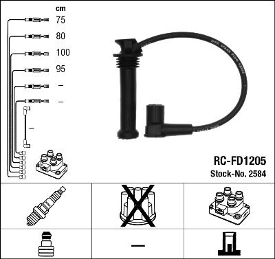 Комплект проводов зажигания NGK 2584