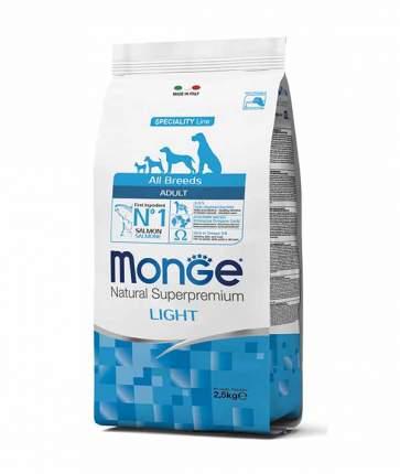 Сухой корм для собак Monge Speciality Light, низкокалорийный, лосось и рис, 2,5кг