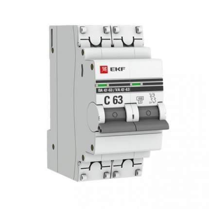 Автоматический выключатель EKF mcb4763-2-10C-pro