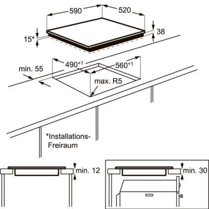 Встраиваемая варочная панель электрическая Electrolux CPE644RCC Black