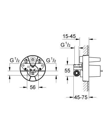 Смеситель для встраиваемой системы Grohe 33964000 черный/золотистый