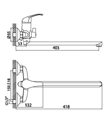 Смеситель универсальный Rossinka Silvermix A35-32 хром