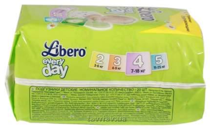 Подгузники Libero Everyday Natural Maxi 4 (7-18 кг), 20 шт.