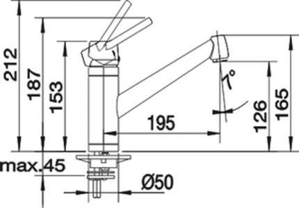 Смеситель для кухонной мойки Blanco ACTIS 514965 серый шелк