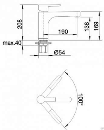 Смеситель для кухонной мойки Blanco PYLOS 512948 жасмин