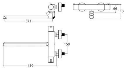 Смеситель универсальный LEMARK Yeti LM7834C хром