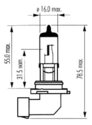 Лампа галогенная SCT 51W P22d 202594