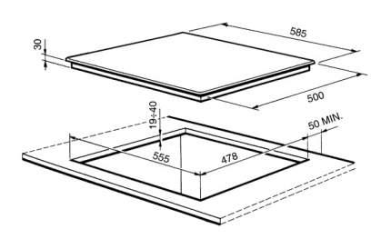 Встраиваемая варочная панель газовая Smeg SR34SGH3 Silver