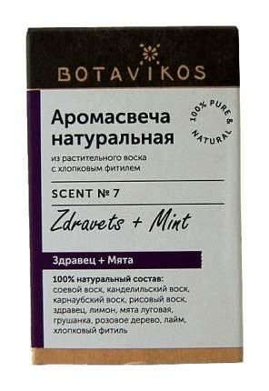 Ароматическая свеча Botanika Здравец, мята 9166