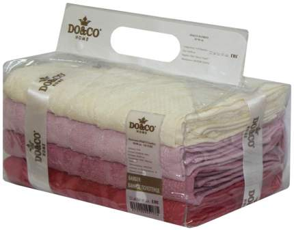 Набор полотенец DO&CO victori белый, красный, розовый