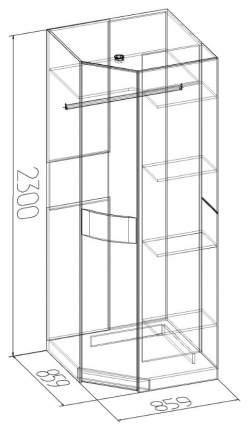 Платяной шкаф Глазов мебель GLZ_25103 86х86х230, венге