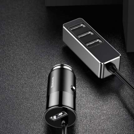 Baseus Enjoy Together 4 USB Output Car Charger Автомобильное зарядное устройство Black