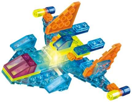 Светящийся конструктор Crystaland «Космический истребитель», 4 в 1, 48 деталей Sima-Land