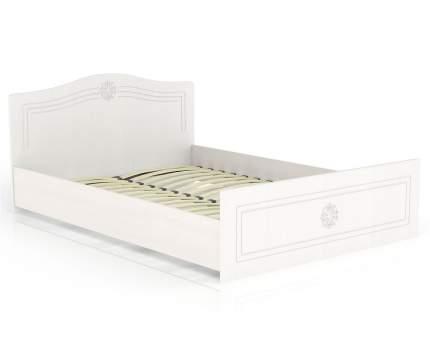 Кровать 1400 Мебельный Двор Онега белая КР-1400 147х204х84, сп. м. 1400х2000 мм.
