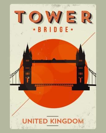 Постер Tower Bridge 40х50 в тубусе