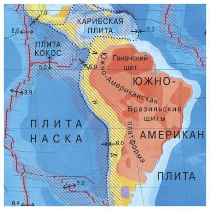 Карта Геодом Мир Физический