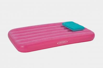 Intex, 66801, Детский надувной матрас Cozy Kids Airbed, 88х157х18см, цвет Розовый