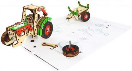 Конструктор деревянный M-Wood Трактор-фермер MW-3004