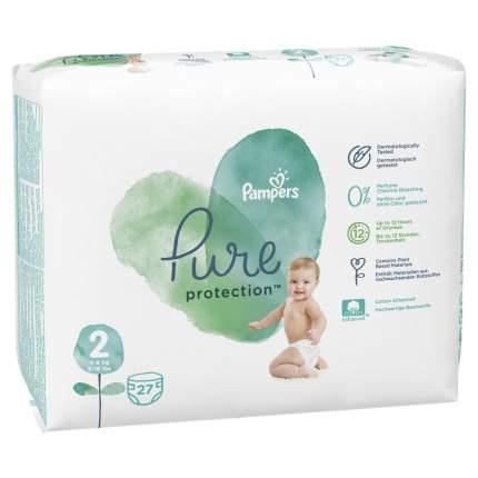 Подгузники Pampers Pure Protection 4-8 кг, размер 2, 27 шт.
