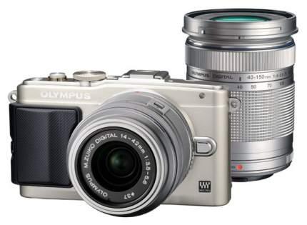 Фотоаппарат системный Olympus Pen E-PL6 14-42+40-150 Kit Silver