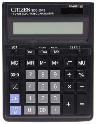 Калькулятор CiTiZEN SDC-554S Черный
