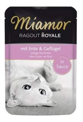 Влажный корм для кошек Miamor Королевское рагу, утка и птица в соусе, 100г