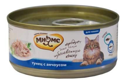 Консервы для кошек Мнямс, тунец, анчоус, 70г