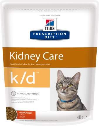 Сухой корм для кошек Hill's Prescription Diet Kidney Care, при патологии почек, 0,4кг