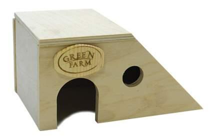 Домик для грызуна Green Farm дерево, 8х10х17см, цвет бежевый