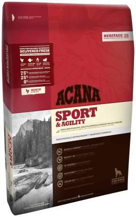 Сухой корм для собак ACANA Heritage Sport & Agility, для активных, цыпленок, 17кг