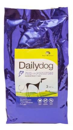 Сухой корм для собак Dailydog Adult Small Breed, для мелких пород, рыба и картофель, 3кг