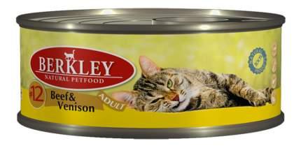 Консервы для кошек Berkley Adult Menu №12 с говядиной и олениной маслом лосося 6шт по 100г