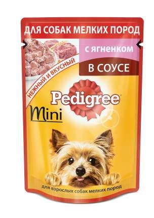 Влажный корм для собак Pedigree Mini, ягненок, 24шт, 85г