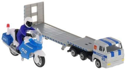 Спецтехника Технопарк Автотранспортер КамАЗ Полиция с Мотоциклом ДПС