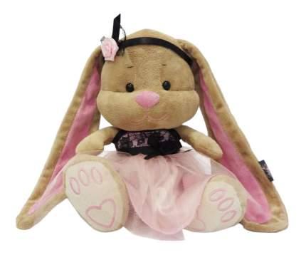 Мягкая игрушка Jack&Lin Зайка Лин в розово-черном платьице, 25 см