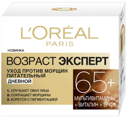 Крем для лица L`Oreal Paris Dermo-Expertise Возраст Эксперт 65+ дневной 50 мл