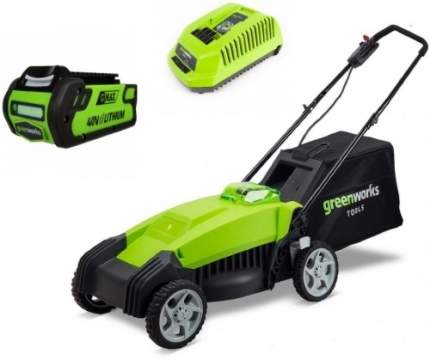 Аккумуляторная газонокосилка Greenworks G40LM35K2 2500067va