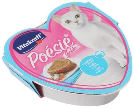 Консервы для кошек Vitakraft Poesie, лосось, шпинат, 85г