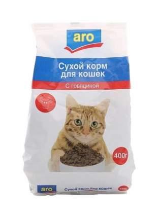 Сухой корм для кошек Aro, говядина, 0,4кг