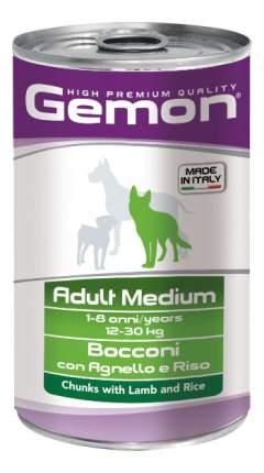 Консервы для собак Gemon Medium, кусочки ягненка с рисом, 1250г