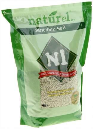 Наполнитель N1 NATUReL комкующийся 4.5 л 1.8 кг чай