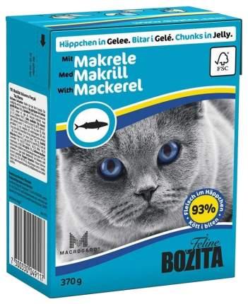 Консервы для кошек BOZITA Feline Chunks In Jelly, с скумбрией в желе, 370г